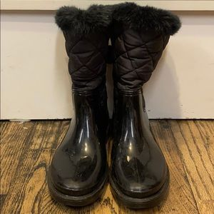 Kate Spade Black Boots Size 8